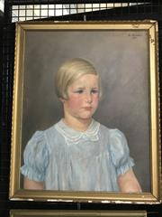 Sale 9024 - Lot 2036 - Binder - Portrait of a Young Girl, oil on canvas, SUR