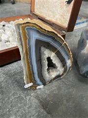 Sale 9059 - Lot 1087 - Quartz Cave with Agate Surround