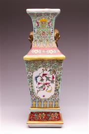 Sale 9081 - Lot 51 - Chinese Polychrome Peach Vase (H: 43cm)