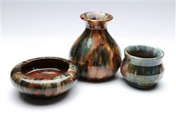 Sale 9090 - Lot 17 - A Regal Mashman vase (H9cm) together with two others