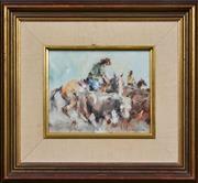 Sale 8415 - Lot 577 - Patrick Kilvington (1922 - 1990) - A Real Good Cut-Out 18.5 x 23.5cm