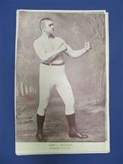 Sale 8450S - Lot 745 - Early Boxing Portraits - 53 different portraits from the National Police Gazette 1890s-1900s, all cut to size, including John L Sull...