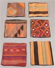 Sale 8438K - Lot 97 - Six Tribal Kilim Cushion Covers | 40x40cm, Pure Wool, Cotton Backing, Unique Afghan kilim cushion, Made from vintage kilims, many ov...