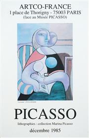 Sale 8483 - Lot 2003 - Pablo Picasso - La Lecture 32 x 22.5cm (sheet size: 57 x 37cm)