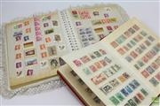 Sale 8618 - Lot 86 - Two Stamp Albums, with Early Australian, German & Chinese examples (cancelled stamps)
