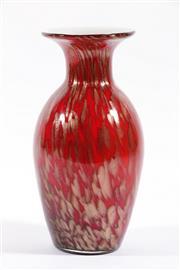 Sale 9003G - Lot 612 - Vintage Italian Copper Aventurine Cased Glass Vase, Probably for V. Nason & Company for Murano