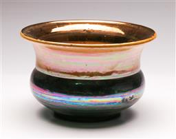 Sale 9131 - Lot 98 - Studio pottery lustre finish vase - marked to base (Dia:22.5cm)