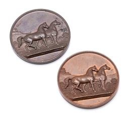 Sale 9190E - Lot 84 - Two commemorative horse medals