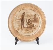 Sale 8620A - Lot 67 - A Grimwades ceramic Character plate, inscribed verso: Made by the girls of Staffordshire during the winter of 1917/18 when the boy...