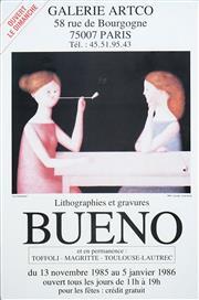 Sale 8483 - Lot 2005 - Antonio Bueno (1918 - 1984) - Les Fumeuses 28 x 35cm (sheet size: 59 x 39cm)