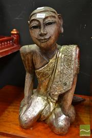 Sale 8489 - Lot 1005 - Wooden Buddha