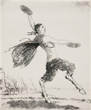 Sale 8592A - Lot 5038 - Adrian Feint (1894 - 1971) - The South Wind 16.5 x 14cm; 44.5 x 34.5cm (sheet size)