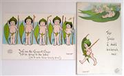 Sale 8639 - Lot 11 - Two May Gibbs' WWI Postcards, Gumnut Series 5 and 6.