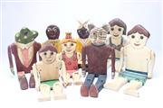 Sale 8701 - Lot 12 - Collection Of Hand Made And Painted Vintage Toys (1 AF)