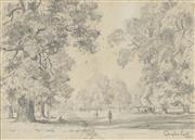 Sale 8750 - Lot 2027 - Douglas Pratt (1900 - 1972) - Park Scene 25.5 x 36cm