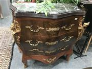 Sale 8822 - Lot 1252 - Bombe Style Chest of Drawers with Marble Top - 280