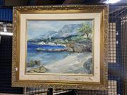 Sale 8927 - Lot 2048 - Artist Unknown - Coastal Scene, oil on canvas, 64 x 34 cm