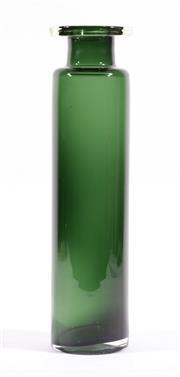 Sale 9003G - Lot 669 - Large Vintage Holmegaard Style Sommerso Palet Range Cylinder Glass Vase (H37cm)