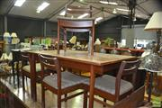 Sale 8341 - Lot 1053 - White and Newton of Portsmouth Teak Table and Four Chairs