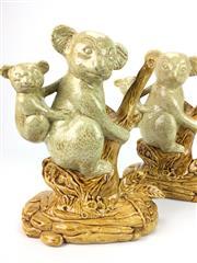 Sale 8304 - Lot 1 - Studio Pottery Pair of Koala Figures Signed J.H