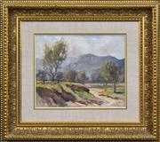 Sale 8415 - Lot 576 - Robert Johnson (1890 - 1964) - Countryscape 21 x 27cm