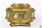 Sale 8481 - Lot 47 - French Gilt Bronze Ormolu Jewellery Casket