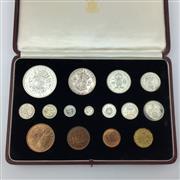Sale 8618 - Lot 42 - British Royal Mint Specimen Coins 1937 in original box.