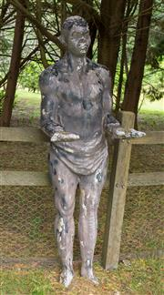 Sale 8677A - Lot 49 - Scarecrow figure, H x 175cm