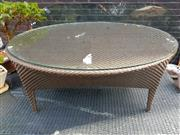 Sale 8745 - Lot 1057 - Poly Wicker Outdoor Coffee Table