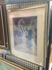 Sale 8767 - Lot 2011 - Norman Lindsay Decorative Print, frame: 54.5 x 46cm