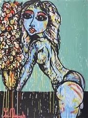 Sale 8880A - Lot 5055 - Yosi Messiah (1964 - ) - Elegance Green 100 x 75 cm