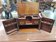Sale 8917 - Lot 1046 - Edwardian Oak Smokers Cabinet, with two pressed panel doors