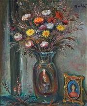 Sale 8938A - Lot 5054 - Bruno Bulic (1903 - 1990) - Interior Still Life 44 x 36 cm (frame: 65.5 x 57 x 6cm)