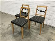 Sale 9056 - Lot 1083 - Set of 6 Vintage Swedish Dining Chairs (84 x w:46 x d:40cm)