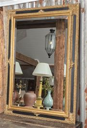 Sale 9060H - Lot 22 - An antique style gilt framed mirror with bevelled glass. Height 111 x 81cm