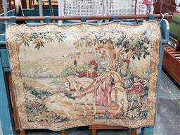 Sale 9097 - Lot 1060 - Franklin Mint Royal Hunt Tapestry, depicting a Falconer on horse back, in a forest