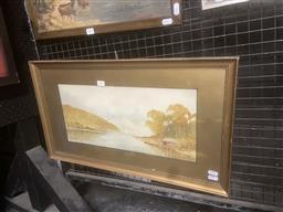 Sale 9111 - Lot 2040 - E Harris Roseville watercolour 37 x 64cm (frame), signed lower left
