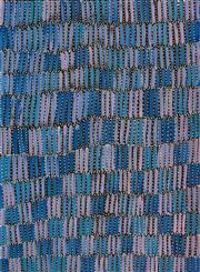 Sale 8309A - Lot 35 - Jeannie Mills Pwerle (1965 - ) - Bush Yam 98 x 72cm