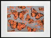 Sale 8408 - Lot 518 - David Bromley (1960 - ) - Butterflies 58.5 x 74cm