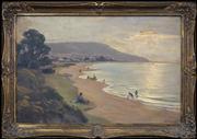Sale 8420 - Lot 568 - Ernest Buckmaster (1897 - 1968) - Untitled (Sydney Beach Scene) 54.5 x 82.5cm
