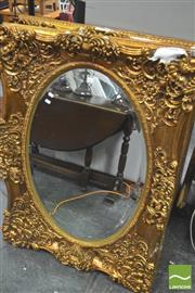 Sale 8418 - Lot 1057 - Pair of Gilt Framed Mirrors (damaged)