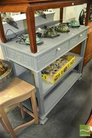 Sale 8440 - Lot 1080 - Two Drawer Painted Tiered Dumbwaiter