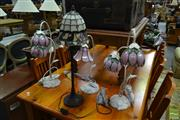 Sale 8515 - Lot 1050 - Collection of Floral Themed Table Lamps
