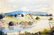 Sale 8597 - Lot 587 - Harold Brocklebank Herbert (1892 - 1945) - The River Bend 23 x 36cm