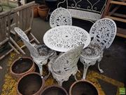 Sale 8601 - Lot 1249 - Metal 5 Piece Outdoor Suite
