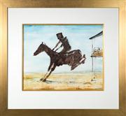 Sale 8630A - Lot 32 - Sidney Nolan (1917 - 1992) - Untitled (Kelly bucking on horse) 50 x 60cm