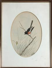 Sale 8795K - Lot 57 - Neville Cayley watercolour