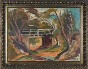 Sale 8964 - Lot 2025A - Yona Misso (1922 - ) - Bridge at Arthurs Creek, Victoria 60 x 80 cm (frame: 75 x 97 x 6 cm)