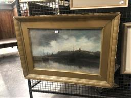 Sale 9152 - Lot 2019 - R Roy-White Evening Scene on the River pastel on paper, 36 x 57 cm (frame: 55 x 77 x 4 cm)