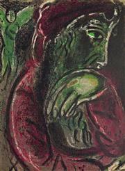 Sale 8658A - Lot 5075 - Marc Chagall (1887 - 1985) - Job in Despair, 1960 32 x 24.6cm